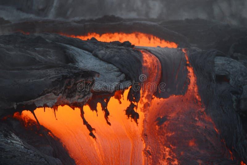 lava in hawaii royalty free stock photos