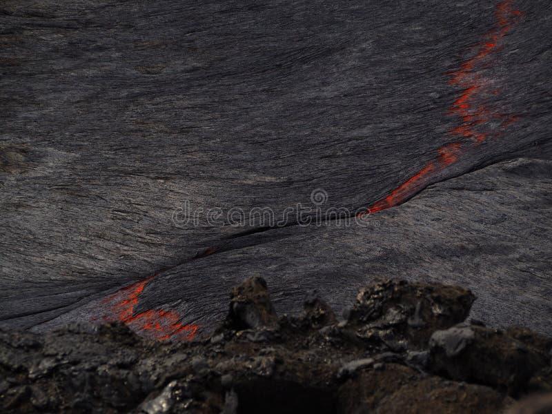 Lava inom den Erta ölvulkan, Etiopien arkivfoto