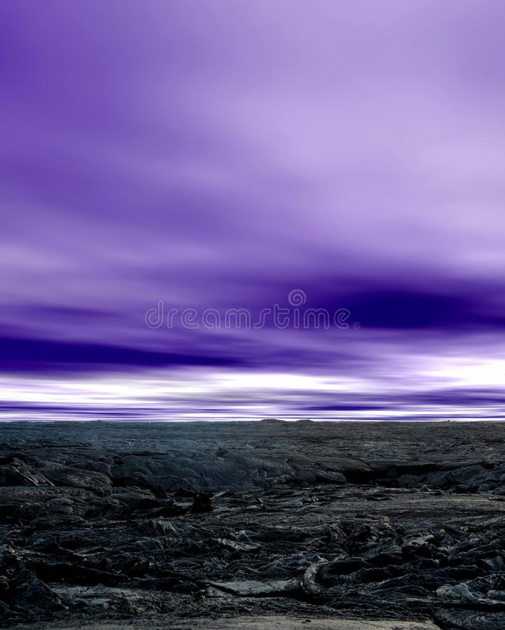 Lava Kilauea vulcão, fresco endurecido foto de stock