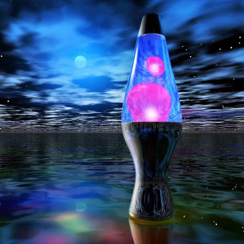 Lava Lamp vector illustratie