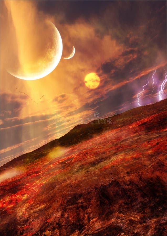 Lava Landscape royalty free stock photos