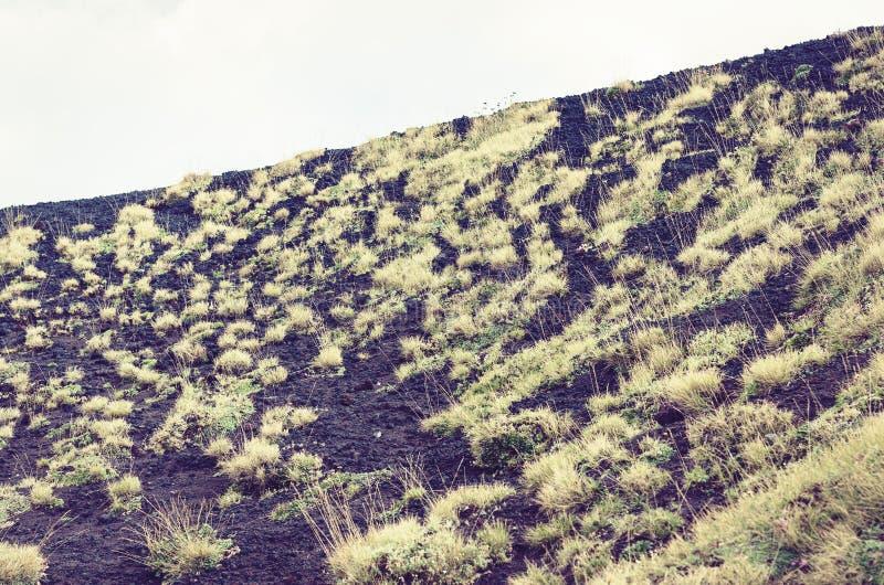 Lava p? Mount Etna, aktiv vulkan p? ostkusten av Sicilien, Italien royaltyfria bilder