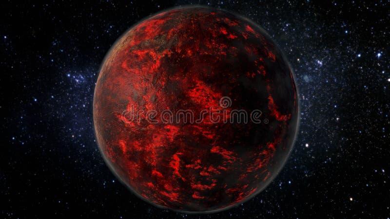 Lava Planet - Super-terra 55 Cancri illustrazione di stock