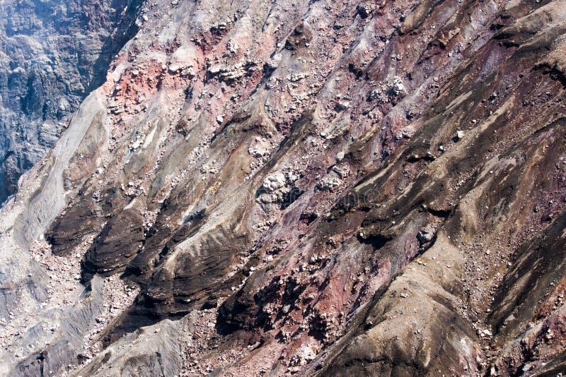 Lava refrescada en volcán del dake de Naka, imagen de archivo libre de regalías