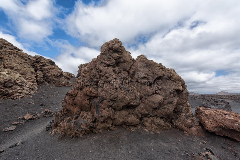 Lava rock Lanzarote Spain royalty free stock photography