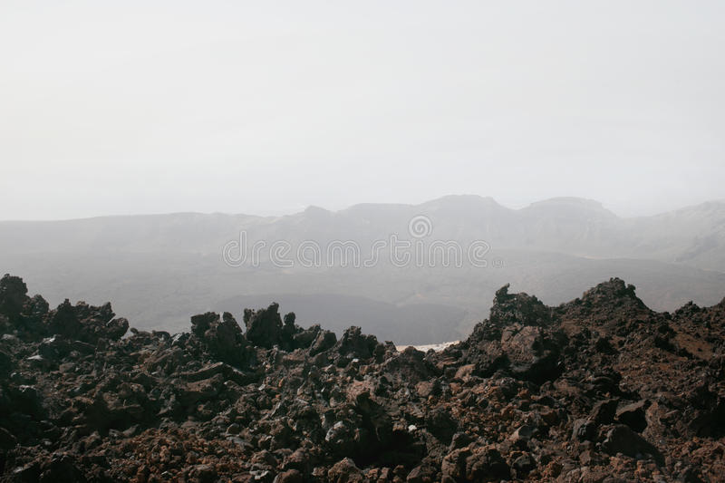 Lava Rock volcánico negro imagenes de archivo