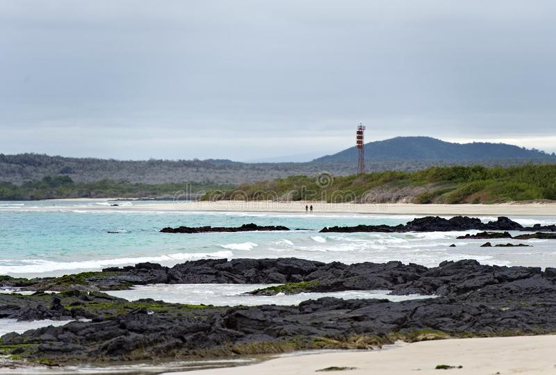 Lava rocks at the coast stock photography