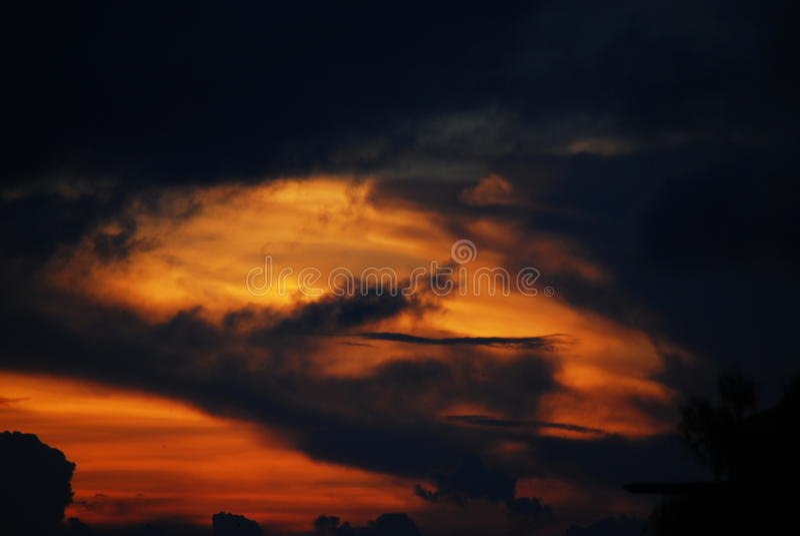 Lava sky royalty free stock photography