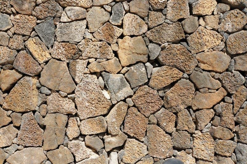 Lava Stone Wall royaltyfria bilder