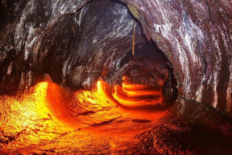 Lava Tube stock afbeelding