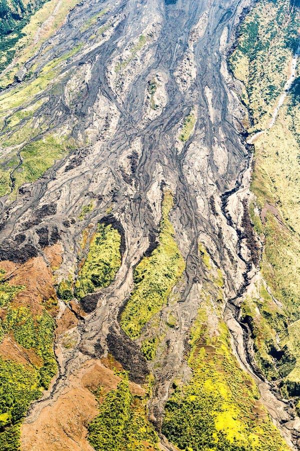 Lava Tungurahua Volcano Aerial Shot vulcânico fotografia de stock royalty free