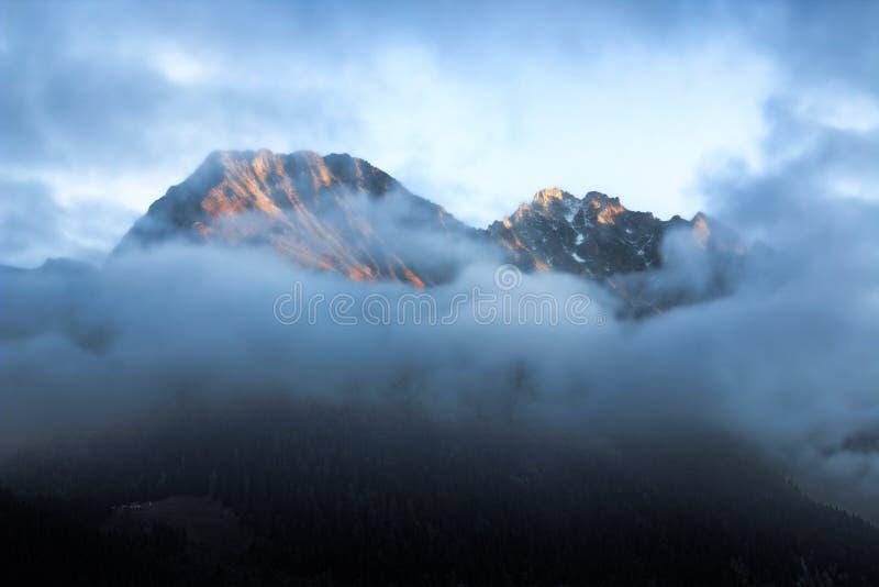 Lava on Volcano stock photo