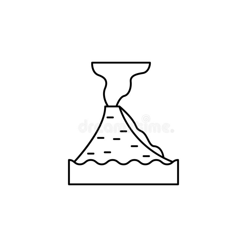 Lava volcano icon. Element of natural disaster icon. On white background royalty free illustration