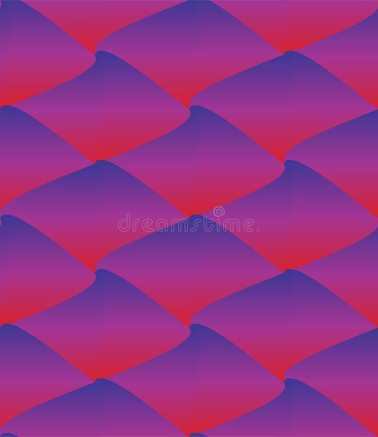 Lava Waves Veelhoekenachtergrond Zeshoeken, cijfersornament Eenvoudig vormenbehang Mozaïekenmotief geometrisch vector illustratie