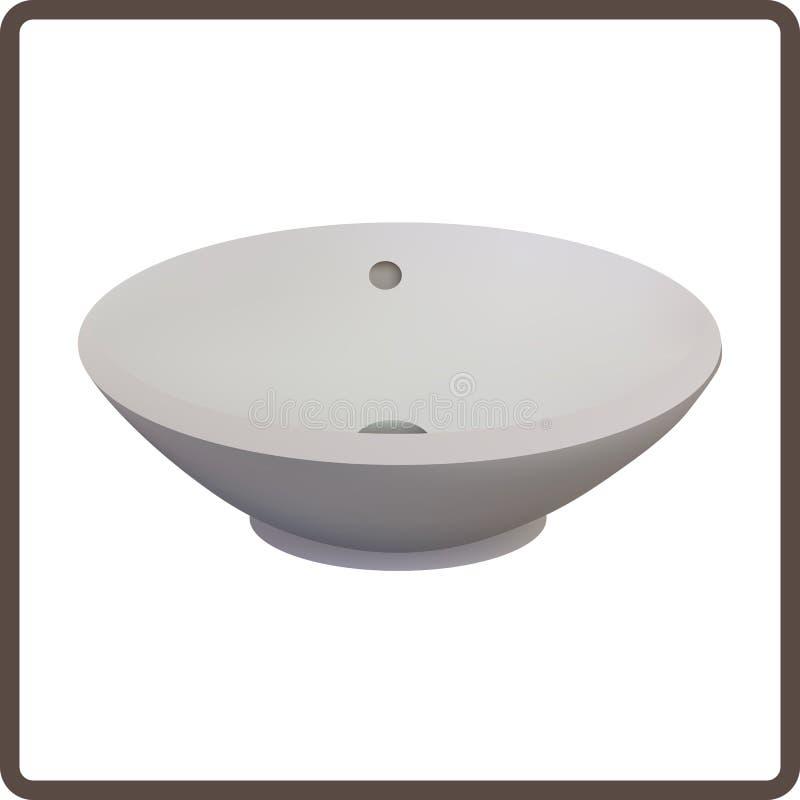 lavabo ilustración del vector