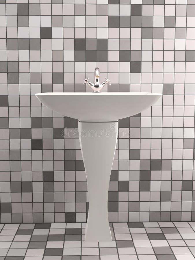 Lavabo blanco elegante libre illustration