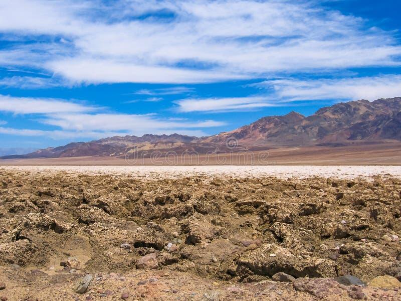 Lavabo de Badwater, paisaje de Death Valley foto de archivo