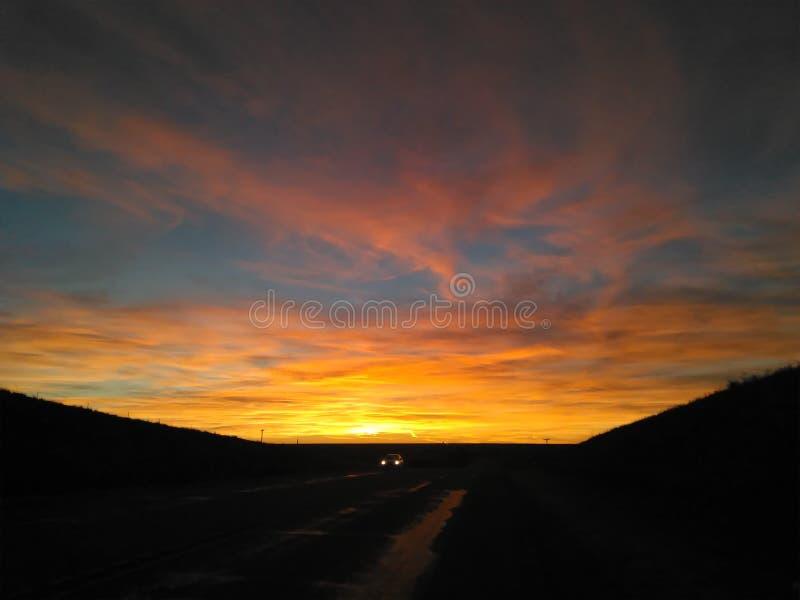 Lavabo de la puesta del sol fotografía de archivo