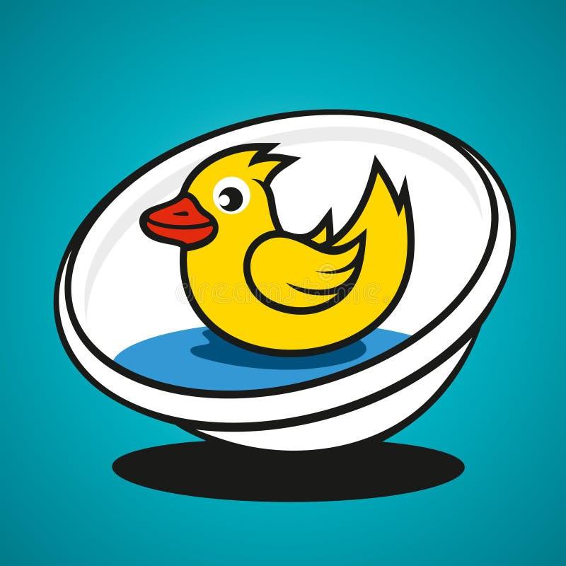 Download Lavabo Del Vector Con Un Pato Stock de ilustración - Ilustración de azul, ilustración: 42432805