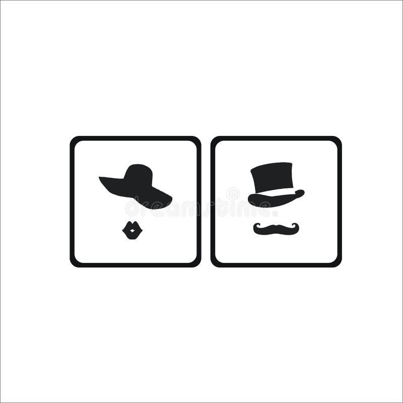 Lavabo, icono del retrete fotografía de archivo