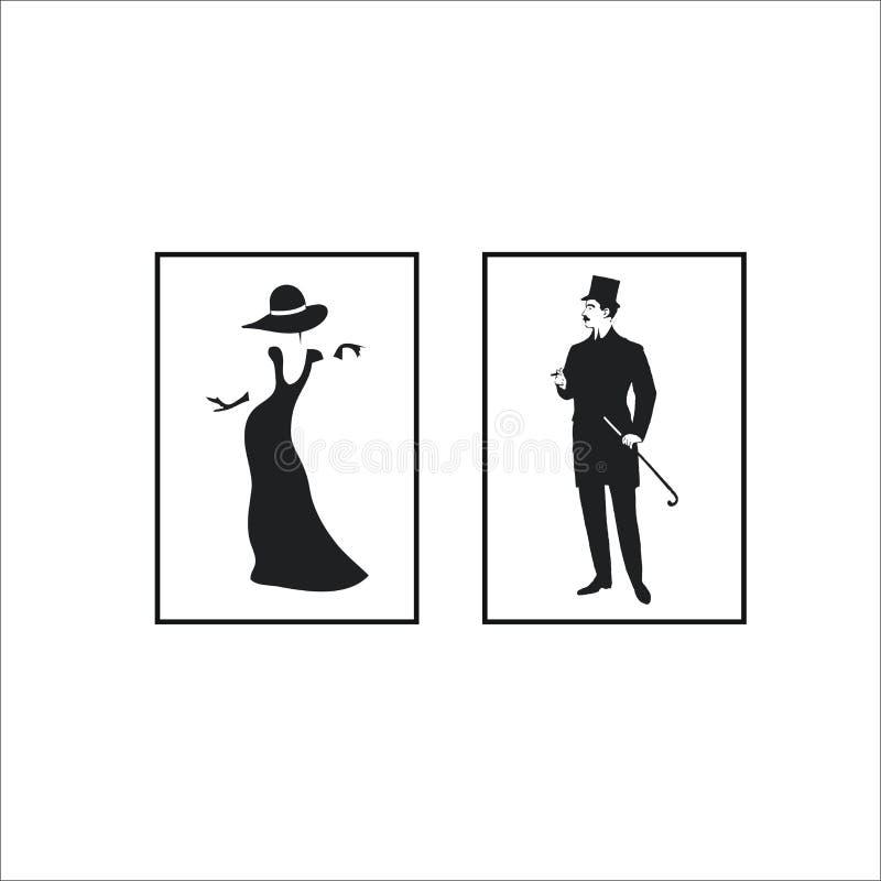 Lavabo, icono del retrete fotografía de archivo libre de regalías