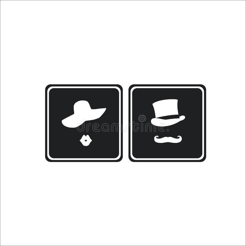 Lavabo, icono del retrete fotos de archivo libres de regalías