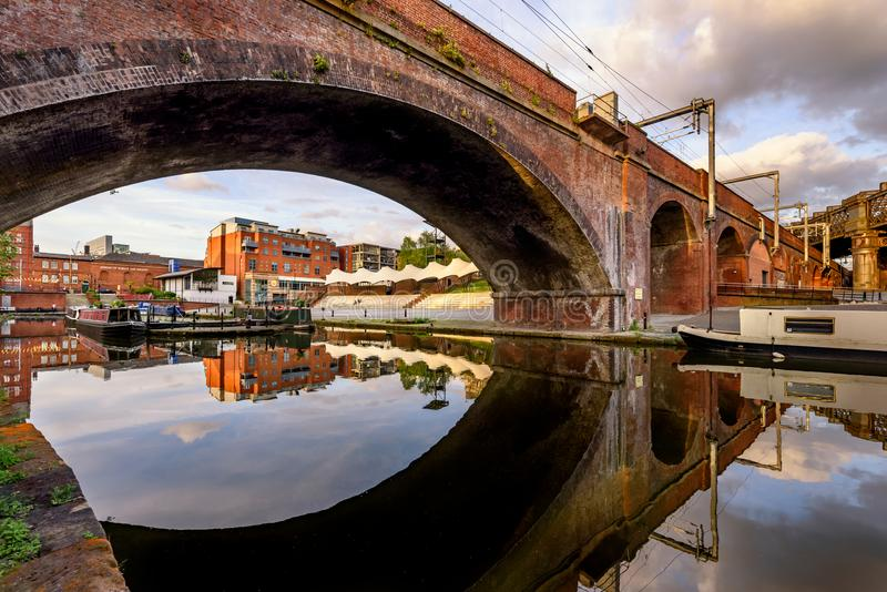 Lavabo Manchester de Castlefield fotografía de archivo libre de regalías