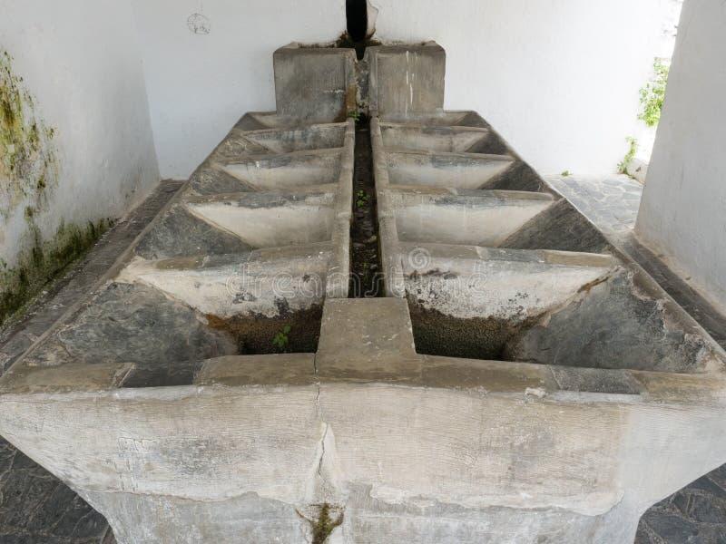 Lavadero, ein altes allgemeines Wäschehaus in Pampaneira, Spanien lizenzfreies stockbild