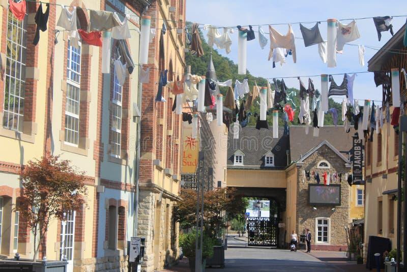 Lavadero - secado de paños en Luxemburgo fotos de archivo