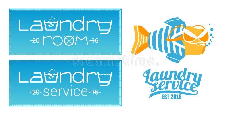 Lavadero, sistema del servicio que se lava del logotipo del vector, icono, símbolo, emblema libre illustration