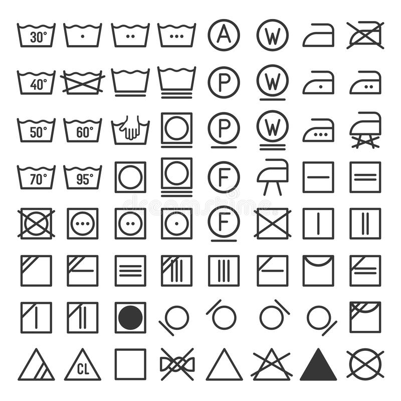 Lavadero y sistema del icono que se lava Vector libre illustration