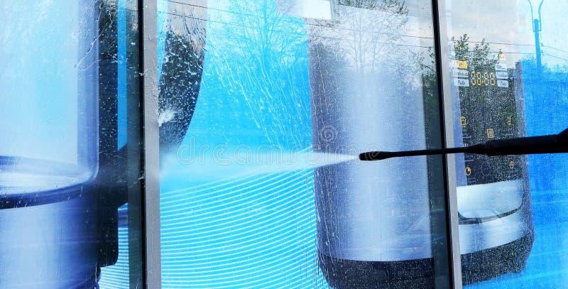 lavado de la Demostración-ventana imagen de archivo libre de regalías