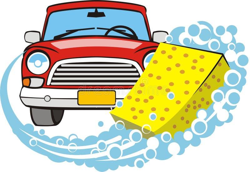 Lavado del coche stock de ilustración
