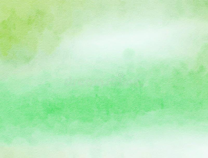 Lavado verde del papel del Watercolour foto de archivo