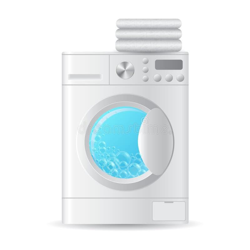 Lavadora automática realista del vector libre illustration