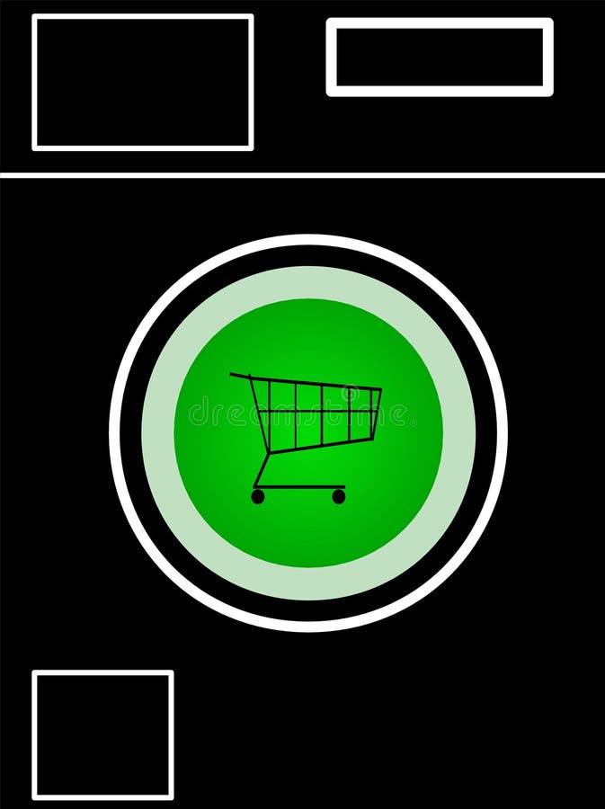 Lavadora con el botón de la compra imagen de archivo