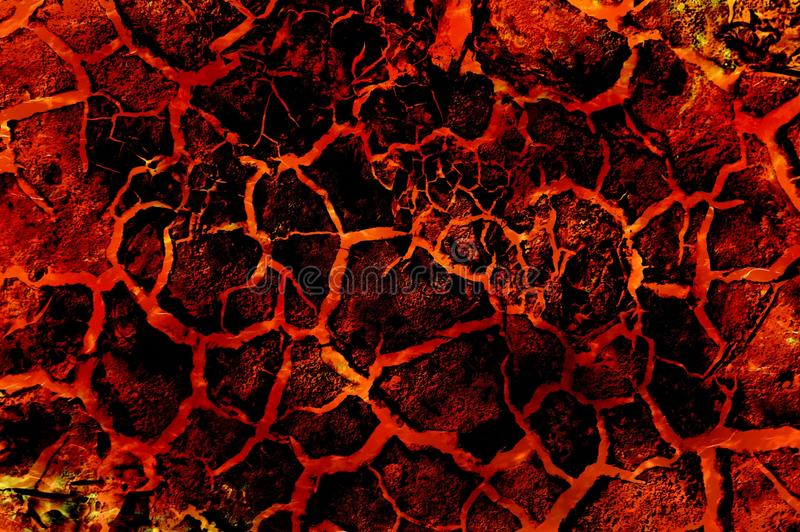 Lavafeuer-Zusammenfassungsmuster der Kunst heißes stock abbildung