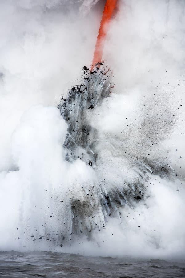 Lavafluss in Hawaii lizenzfreies stockfoto