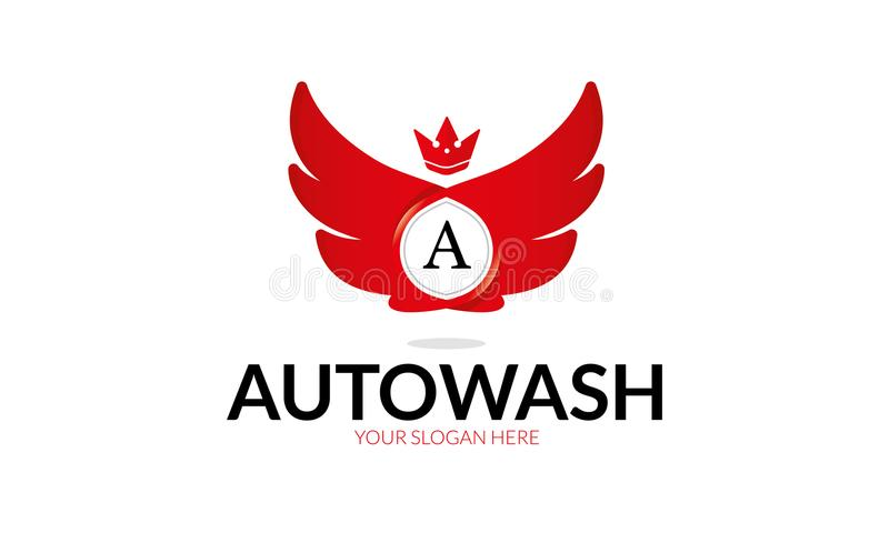 Lavage automatique Logo Template illustration libre de droits