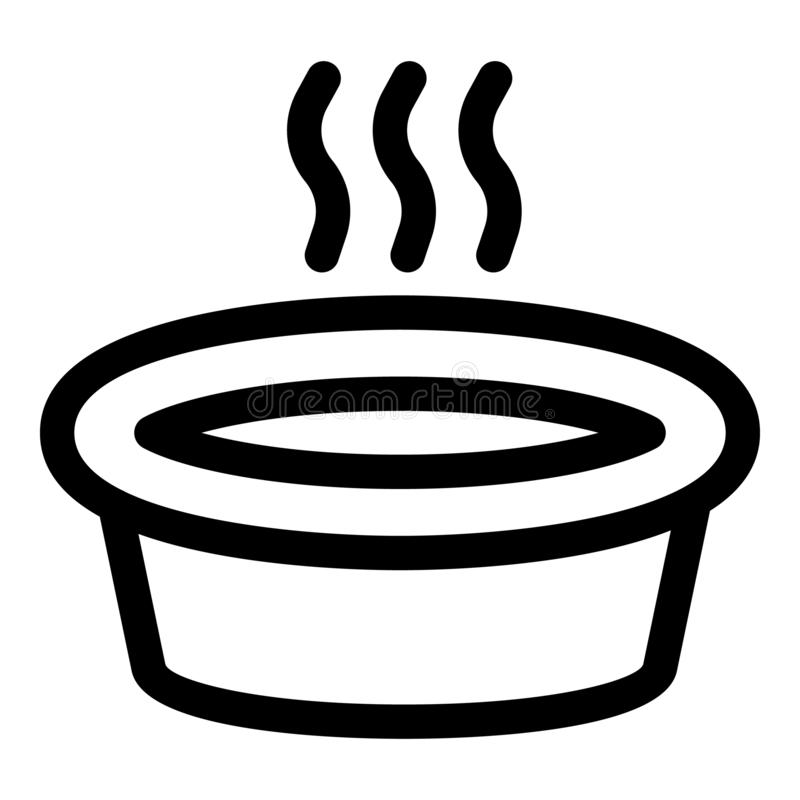 Lavage dans l'icône de bassin d'eau chaude, style d'ensemble illustration libre de droits