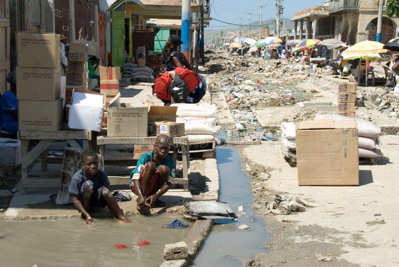 Lavage dans la rue photos libres de droits