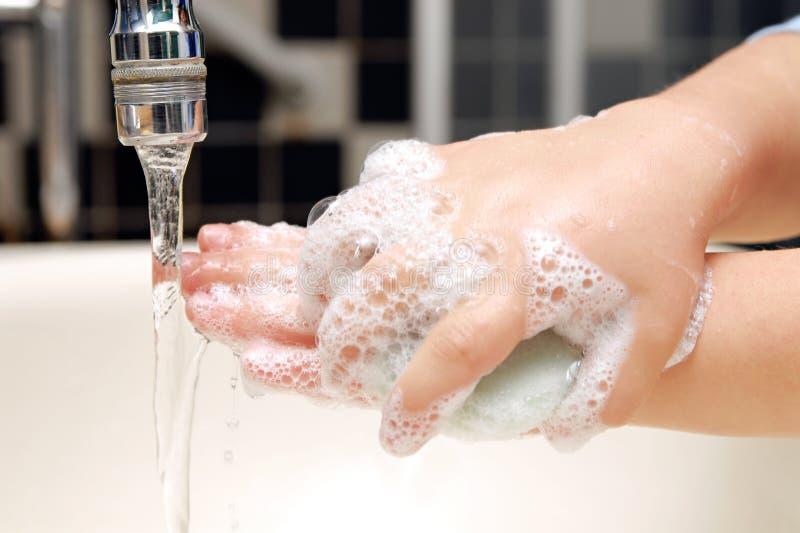 Lavage de main photo libre de droits