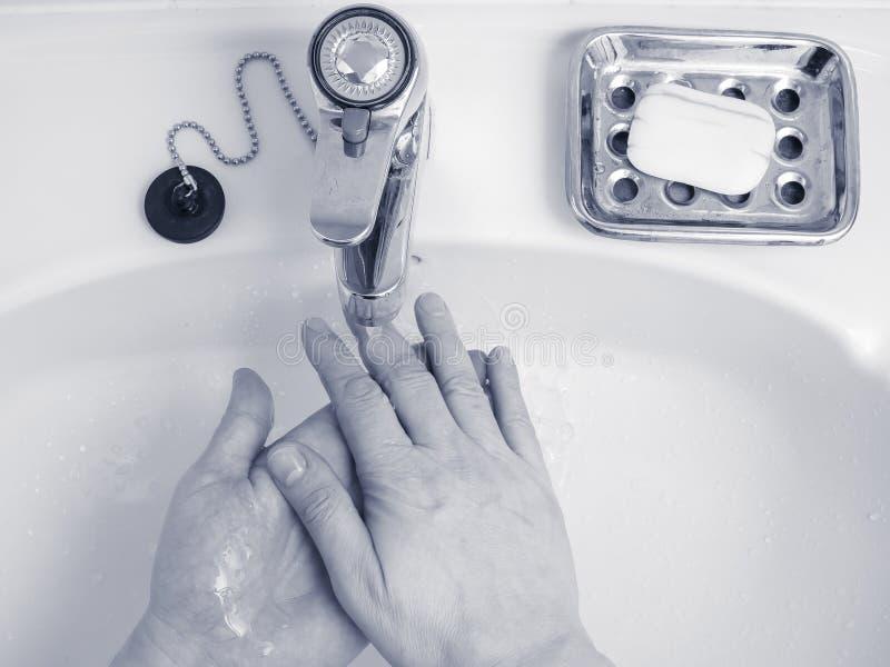 Lavage de main photos libres de droits