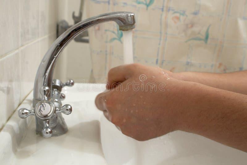lavage de mains photographie stock libre de droits