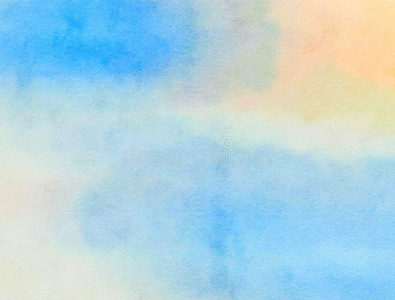 Lavage de papier pour aquarelle bleu image libre de droits