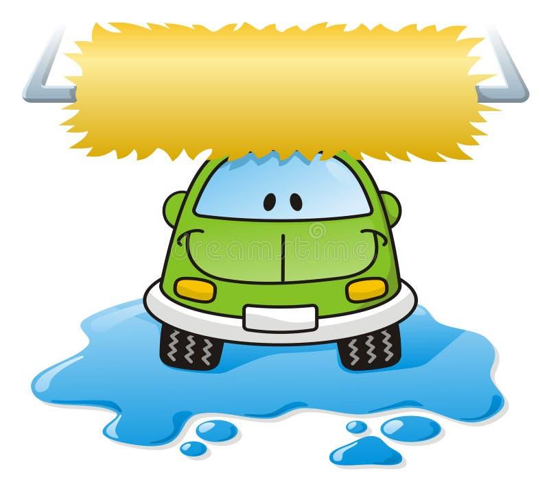 lavage de vert de véhicule illustration de vecteur