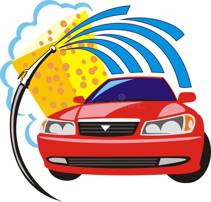 lavage de voiture illustration de vecteur