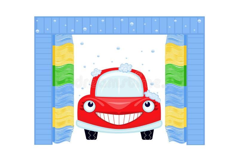 Lavage de voiture automatisé illustration stock
