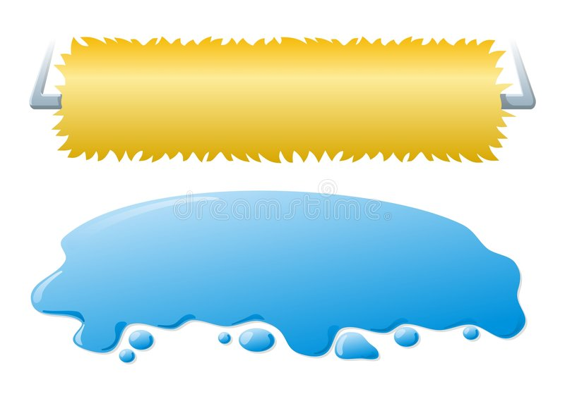 lavage de voiture de drapeaux illustration stock