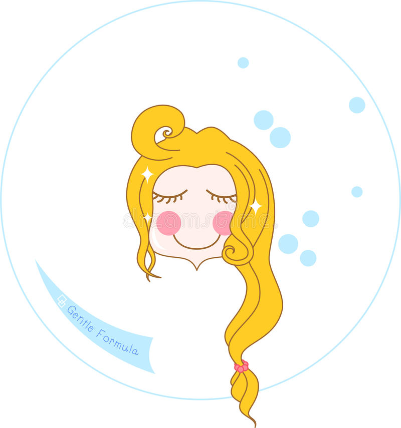 Lavagem da cara do Aqua ilustração royalty free